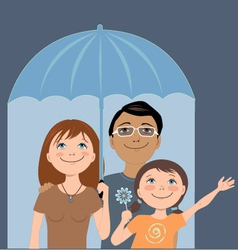 Family insurance vector image