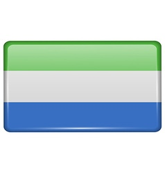 Flags SIERRA lEONE in the form of a magnet on vector