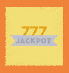flat shading style icon jackpot lucky seven vector image