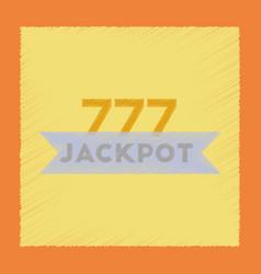 Flat shading style icon jackpot lucky seven vector