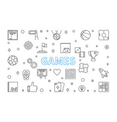 games concept outline on white vector image