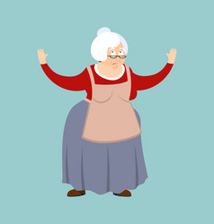 Grandmother confused emotions grandma is vector