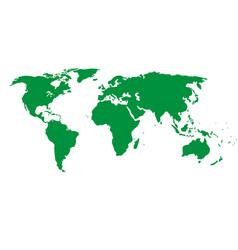 green map world landmark image vector image