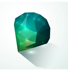Green shining diamond vector