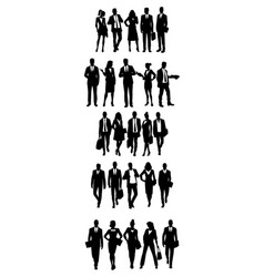 Groups of business people vector