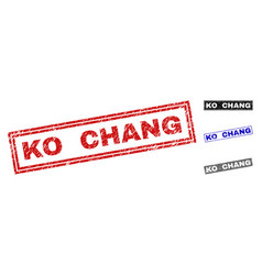 Grunge ko chang scratched rectangle watermarks vector