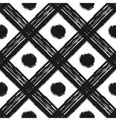 Grunge seamless pattern of black white diagonal vector image