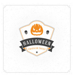 halloween celebration greeting card vector image