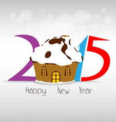Happy new year and christmas with christmas house vector