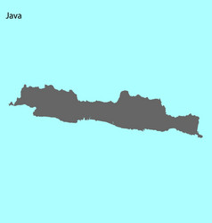 high quality map of island vector image