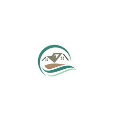 home garden logo icon vector image