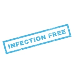 Infection Free Rubber Stamp vector