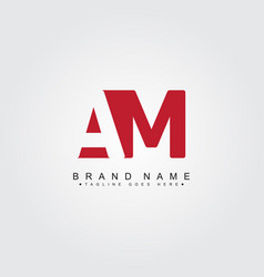 Initial letter am logo - simple business logo vector