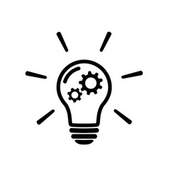innovation concept icon light bulb with gear sign vector image