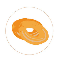 Isolated pair of bagels vector