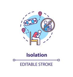 Isolation concept icon vector