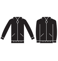 jumper sweatshirt black concept icon vector image
