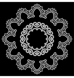 Lace round 12 380 vector