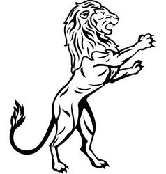Lion trabal tattoo vector