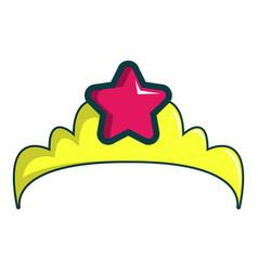 Little princess crown icon cartoon style vector