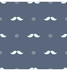 Movember mustache and eye hipster seamless pattern vector