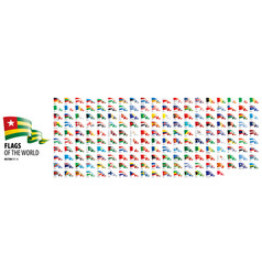 national flags countries vector image