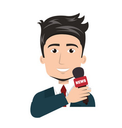 news presenter avatar character vector image