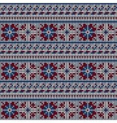 Norwegian star knitting pattern vector
