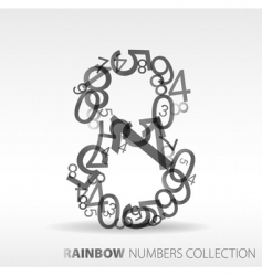 number eight design elements vector image