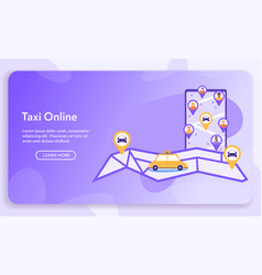 online taxi or rent transportation set isolated vector image