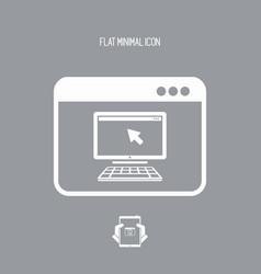 pc remote control application - flat minimal icon vector image