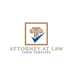 Pillar element attorney at law logo design vector