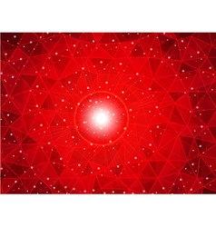 Polygon gradient red background vector