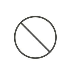 prohibited icon line no symbol vector image
