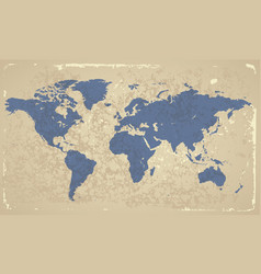 Retro-styled map of the World vector