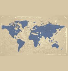 Retro-styled map world vector