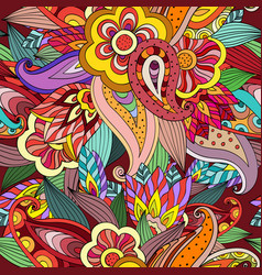 Seamless colorful hand drawing doodle pattern vector