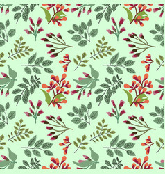 seamless holiday background with abstract leaves vector image