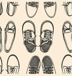 seamless pattern shoes vector image