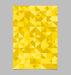 seamless polygonal mosaic triangle page template vector image