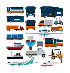 set of delivery and logistic icons vector image