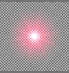 Shining star on transparent background red color vector