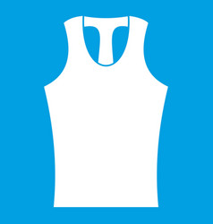 Sleeveless shirt icon white vector