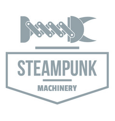 steampunk machinery logo simple gray style vector image