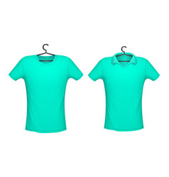 t-shirt and polo mint color vector image