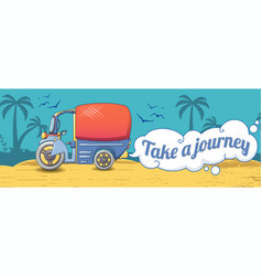take a thai journey concept banner cartoon style vector image