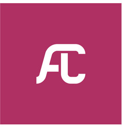 Two letters a and c ligature logo vector