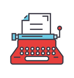 typewriter writer writing text copywriting vector image