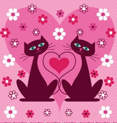 Valentine Cats vector