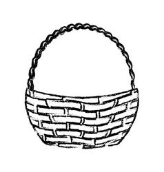 Wicker basket icon vector